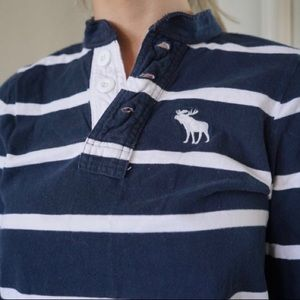 2 for $20* Abercrombie striped rugby long sleeve